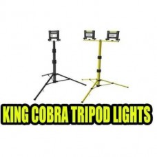 Work Light 2 X 8W Twin Heads + Tripod Stand