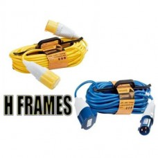Yellow 110V 32A With H Frame Site Extension Leads