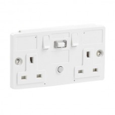 RCD PowerBreaker Double Socket Switched Skeleton