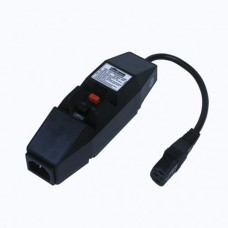 In line RCD IEC Connector Black 10A IP20 Fully Portable