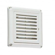 100mm 4 inch Extractor Fan Grille with Fly Screen - White