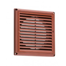 100mm 4 inch Extractor Fan Grille with Fly Screen - Terracotta