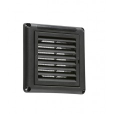 100mm 4 inch Extractor Fan Grille with Fly Screen - Black