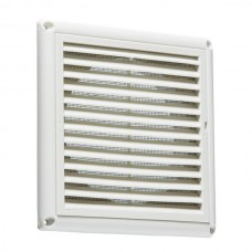 150mm 6 inch Extractor Fan Grille with Fly Screen - White