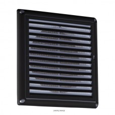 150mm 6 inch Extractor Fan Grille with Fly Screen - Black