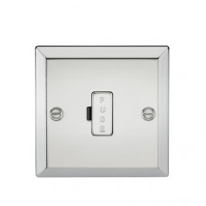 13A Fused Spur Unit - Bevelled Edge Polished Chrome