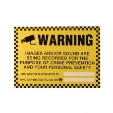 Warning Sign Black/Yellow 420X300mm