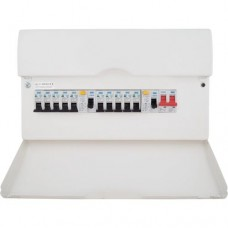 BG Bundle Consumer Unit Dual RCD 10 way with 100A switch &1m tails pack and gland
