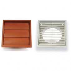 "4"" Fixed Grille (20 Pack) Brown"