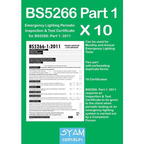sc 1 st  Amble Electrical Distributors & SYAM Emergency Lighting Periodic Test Certs