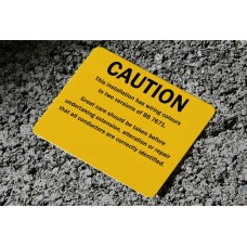 Caution labels (for changes to the wiring colours - Reg 514-14-01) x 50