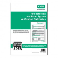 Single Fire Alarm System Verification Certificate (Green)