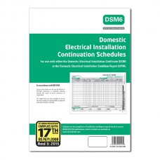 Continuation Schedules for Domestic Electrical Installation Certificates 17th Ed 3rd Amendment - ALL