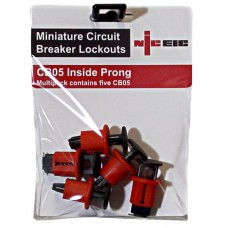 Multi pack of 5 CB05 Inside prong MCB lockout devices