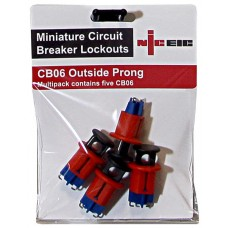 Multi pack of 5 CB06 Outside prong MCB lockout device
