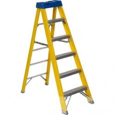 Elex Fibreglass Step Ladder Grp 5 Step