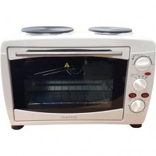 Tabletop 21L Mini Cooker With 2 Zone Sealed Plate Hob - White