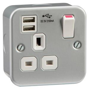 Metal Clad USB Sockets