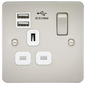 Flat Plate 13A Sockets With USB Charging